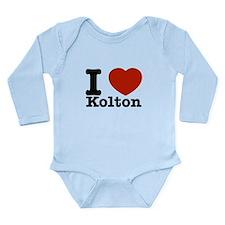 I Love Kolton Long Sleeve Infant Bodysuit