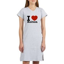 I Love Kolton Women's Nightshirt