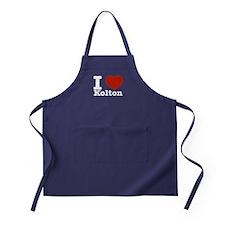 I Love Kolton Apron (dark)