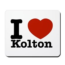 I Love Kolton Mousepad