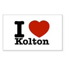 I Love Kolton Decal