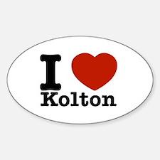 I Love Kolton Sticker (Oval)