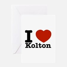 I Love Kolton Greeting Card