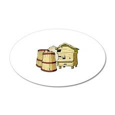 beekeeper 22x14 Oval Wall Peel