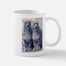 Twin Snow Leopard Cubs Mug