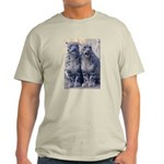 Twin Snow Leopard Cubs Ash Grey T-Shirt