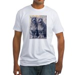 Twin Snow Leopard Cubs Fitted T-Shirt