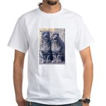 Twin Snow Leopard Cubs White T-Shirt