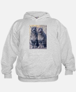 Twin Snow Leopard Cubs Hoodie