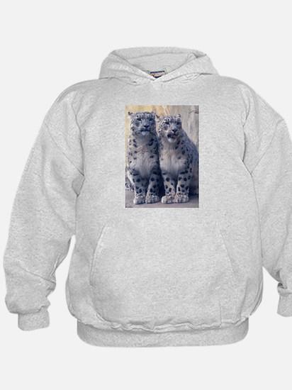 Twin Snow Leopard Cubs Hoody