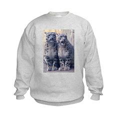 Twin Snow Leopard Cubs Sweatshirt