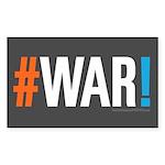 #WAR! Sticker (Rectangle 50 pk)