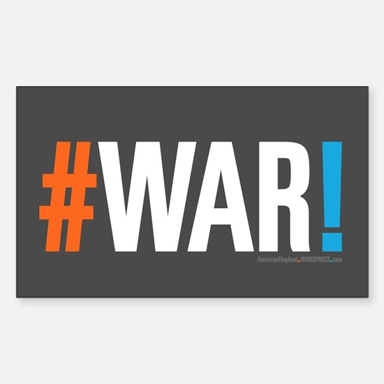 #WAR! Sticker (Rectangle)