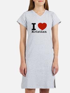 I Love Kristian Women's Nightshirt