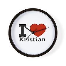 I Love Kristian Wall Clock