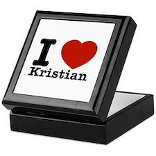 I Love Kristian Keepsake Box