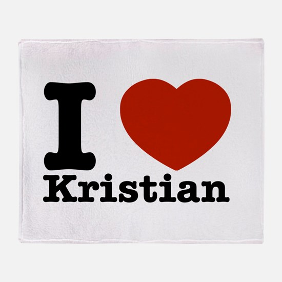 I Love Kristian Throw Blanket