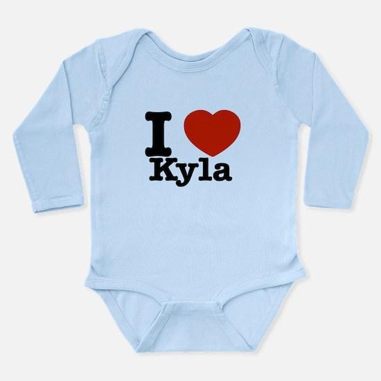 I Love Kyla Long Sleeve Infant Bodysuit