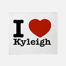 I Love Kyleigh Throw Blanket