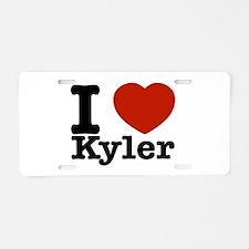 I Love Kyler Aluminum License Plate