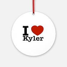 I Love Kyler Ornament (Round)