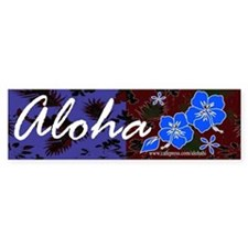 Aloha Bumper Car Sticker