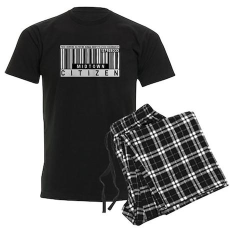 Midtown Citizen Barcode, Men's Dark Pajamas