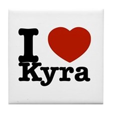I Love Kyra Tile Coaster
