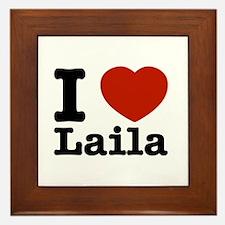 I Love Laila Framed Tile