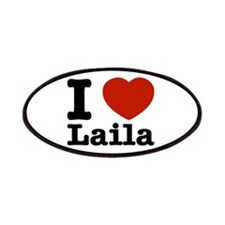 I Love Laila Patches