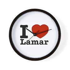 I Love Lamar Wall Clock