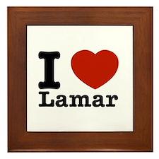 I Love Lamar Framed Tile