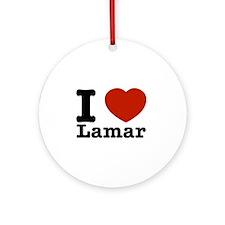 I Love Lamar Ornament (Round)