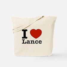 I Love Lance Tote Bag
