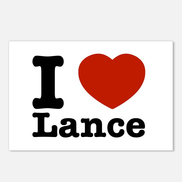 I Love Lance Postcards (Package of 8)
