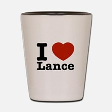 I Love Lance Shot Glass