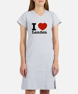 I Love Landen Women's Nightshirt