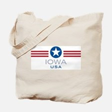 Iowa-Star Stripes: Tote Bag