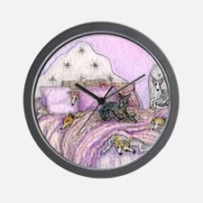 Sighthounds slumber party Wall Clock