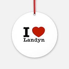 I Love Landyn Ornament (Round)