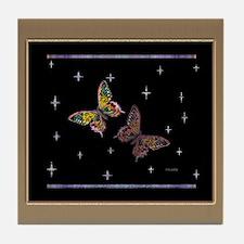 Butterflies N Stars Tile Coaster