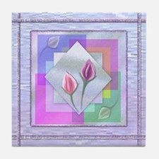 Beautiful Abstract Roses Tile Coaster