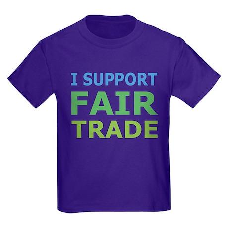 I Support Fair Trade Kids Dark T-Shirt