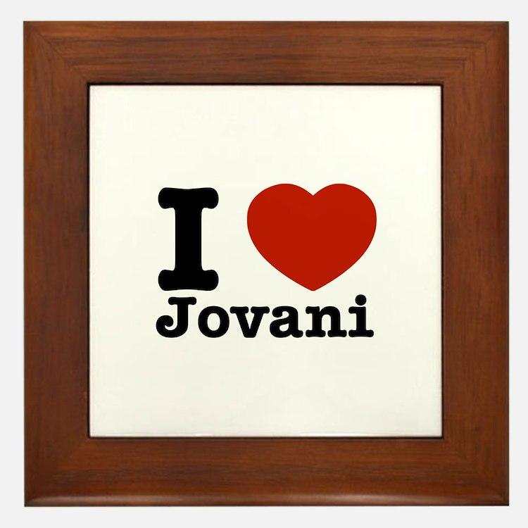 I Love Jovani Framed Tile