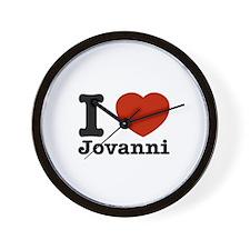 I Love Jovanni Wall Clock