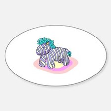 Horse Pinata Sticker (Oval)