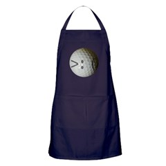 Angry Text golf ball. Apron (dark)