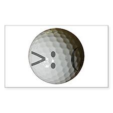 Angry Text golf ball. Decal