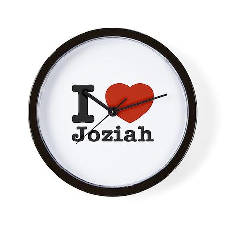 I Love Joziah Wall Clock