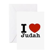 I Love Judah Greeting Card